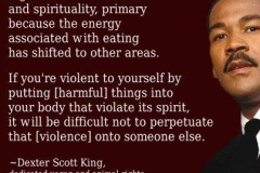 Dexter Scott King Vegan